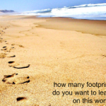 Blog Action Day - Footprints on the world