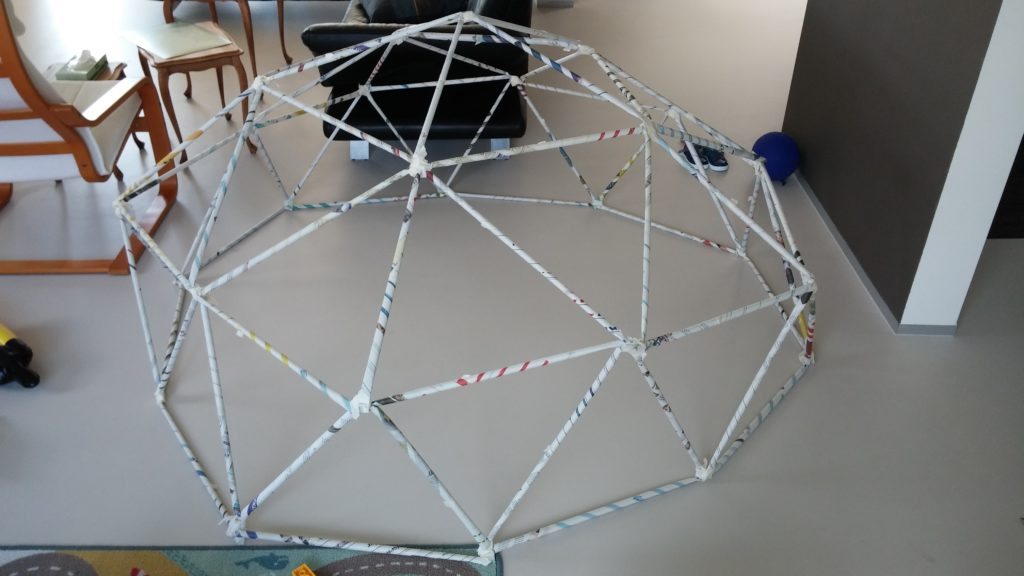 A paper geodesic dome
