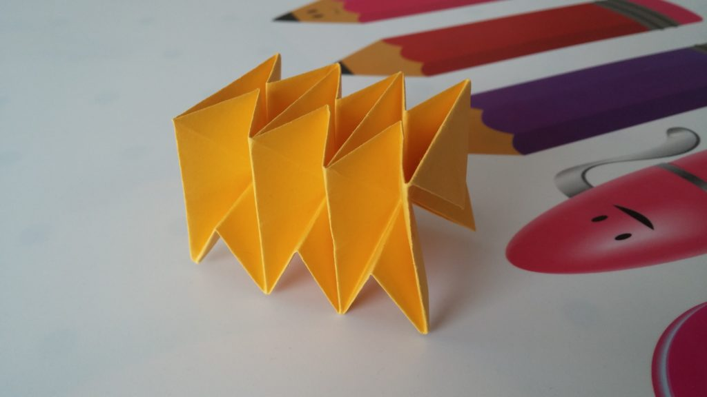 An origami worm